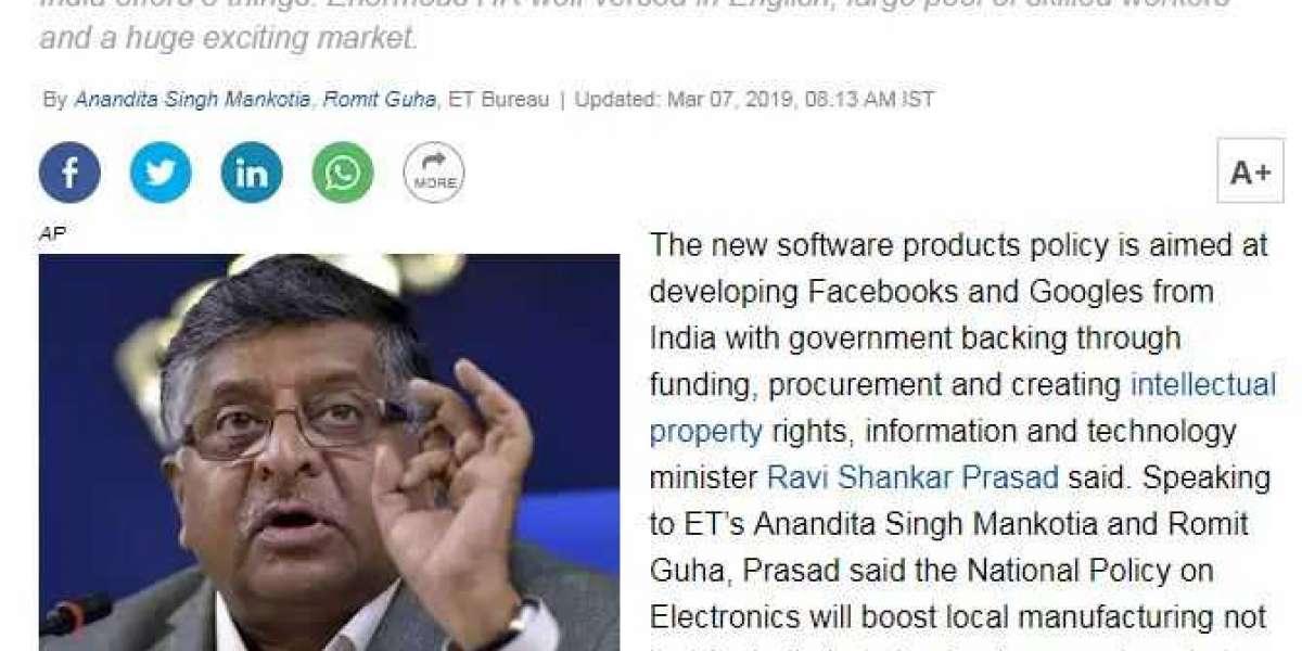 भारत सरकार भारतीय गूगल और फेसबुक निर्माण की बात कर रही है।