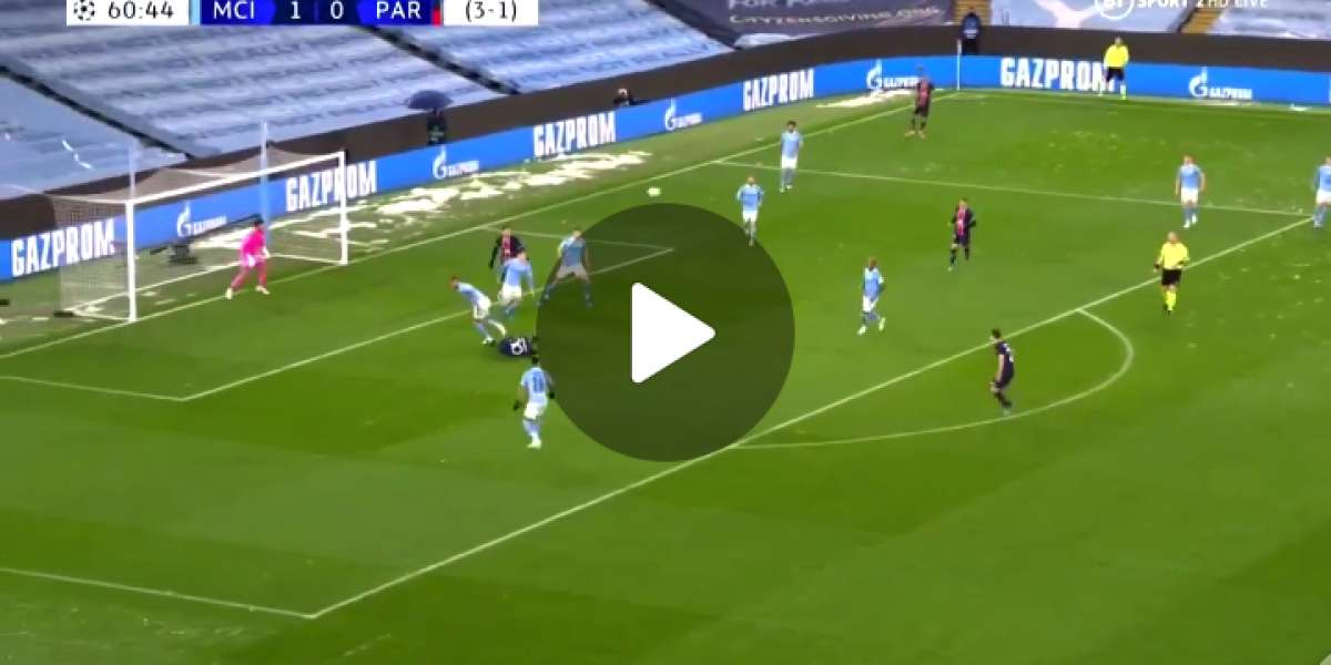 GOALLL Riyad Mahrez scores again as he makes it 2-0 for Man City against PSG
