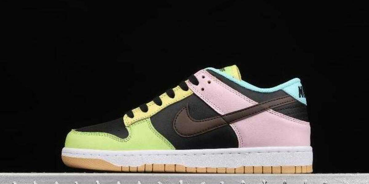 Buy New Nike Dunk Low SE Free 99 Black Dark Chocolate Copa Pink Foam DH0952-001 Sneakers