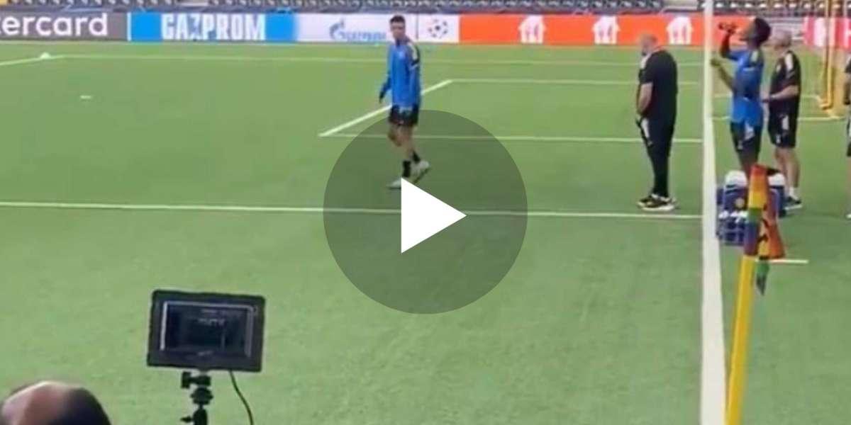 (Video) Manchester United preparing to train at Wankdorf Stadium