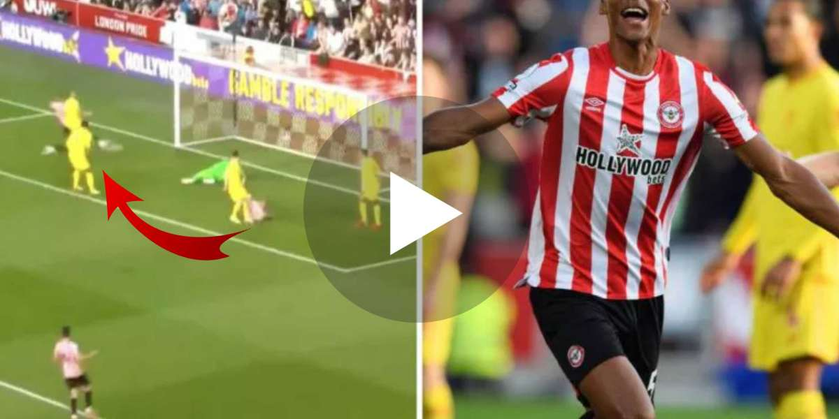 (Video) GOOALLL Liverpool stunned as Ethan Pinnock arrives at back post to give Brentford first-half lead