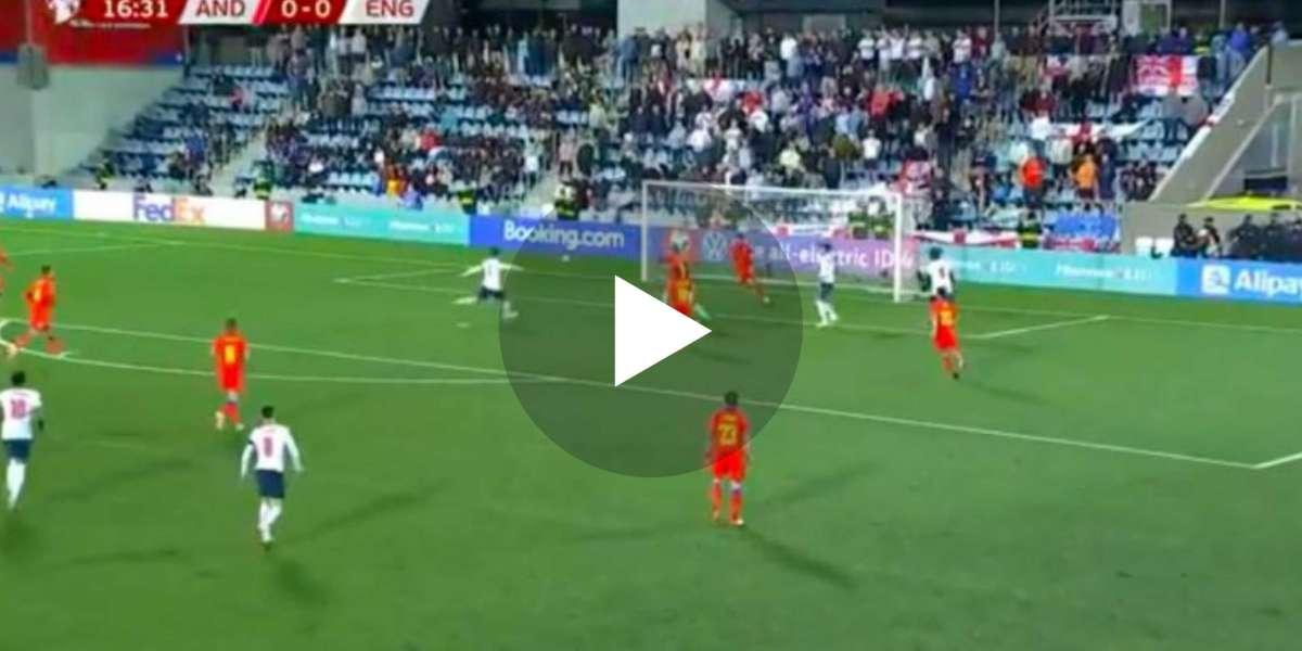 (Video) GOOOAL Jadon Sancho assists England opener against Andorra